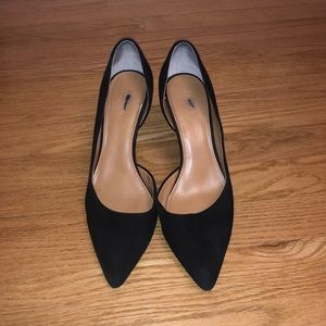 JCREW BLACK SUEDE PUMPS Size 8.5